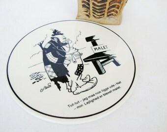 vintage danish ceramic trivet knabstrup keramiske denmark storm p vagrant humorous hobo