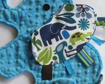 Zoo Day Sensory Elephant Blanket