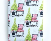 Christmas Wrapping Paper, Gift Wrap, Rolled Paper, French Chair, Christmas, Festive Chic Interior