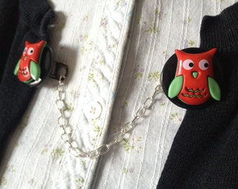 christmas owl sweater clip