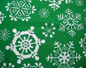 Christmas Fabric Destash – Snow Crystal  - Over 3/4 Yard, 100% Cotton, by Michael Miller