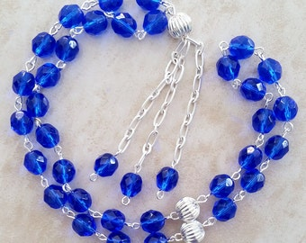 Blue Glass Islamic Tesbih