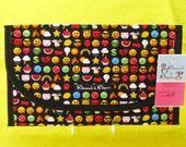 Texting Icon Emojis Diaper and Wipes Case Holder Clutch