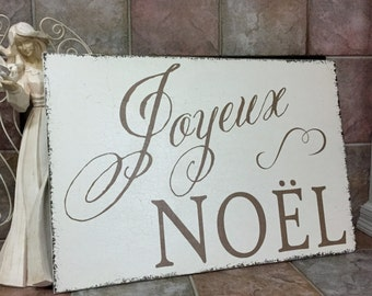 """NOEL Sign, Christmas Signs, NOEL, French Signs, Joyeux Noel, French Christmas Sign, 24"""" x 36"""""""