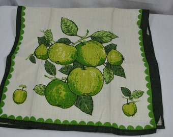 Vintage Green Apples Tea Towel - Luther Travis - Kitchen Towel - NWT -New with Tag - Fallani & Cohn