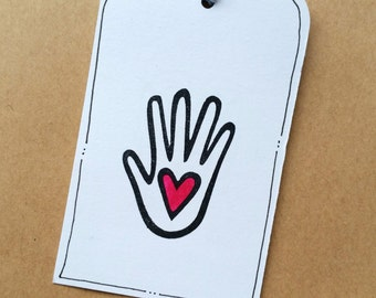 Handmade With Love - Hand Carved Rubber Stamp