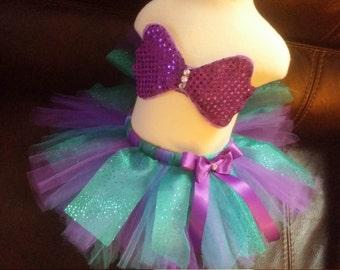 Mermaid sequin top and tutu skirt Birthday Halloween baby toddler size