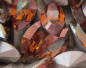 6 10x5mm Crystal Copper Xilion Navettes Swarovski Art 4228 Crystal Copper Swarovski Crystal Copper Navettes 10x5mm Crystal Copper