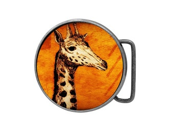 Belt buckle Giraffe Antiqued Silver Gifts for him Gifts for her