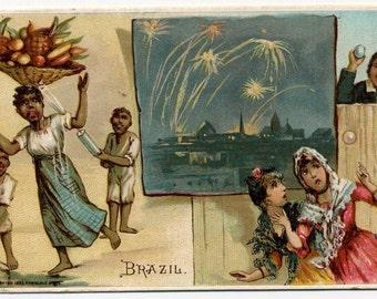 Victorian Trade Card - Arbuckle Coffee - Brazil - 1893