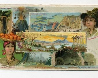 Victorian Trade Card - Arbuckle Coffee - Naples, Italy - 1891