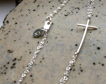 Sideways Cross Bracelet - Jennifer Cervelli Jewelry
