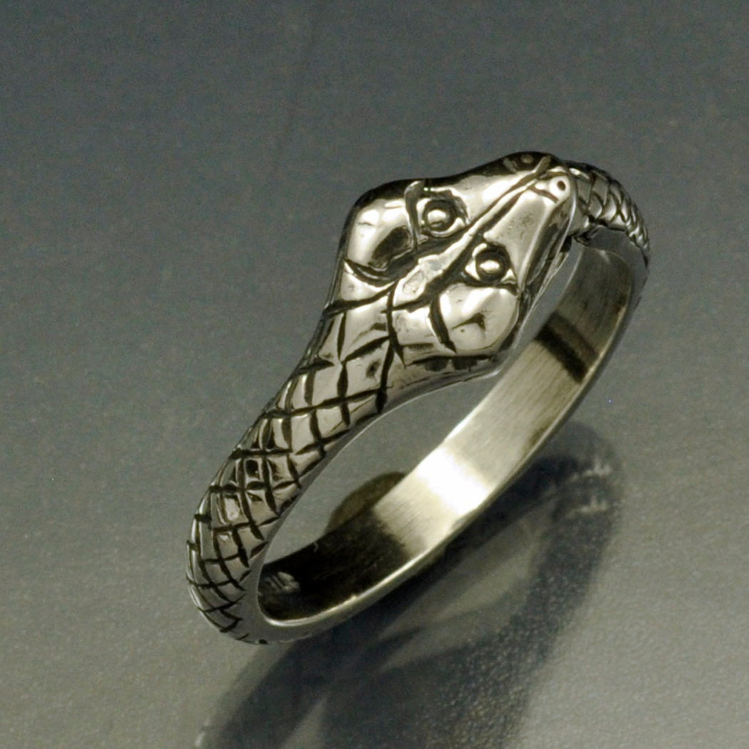 sterling silver snake his ring