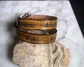 Personalized Custom - Double Wrap Wristband with a Buckle