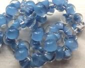10 Sky blue Teardrop Handmade Lampwork Beads - 10mm (21817)