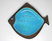 Vintage Beswick Ceramic Fish Dish 2133 - Large Retro - Mid century - England
