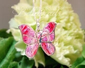 Butterfly memorial necklace, Infant Loss, Loss of a loved one, Angel jewelry, Bereavement gift, Butterfly Kisses Pendant