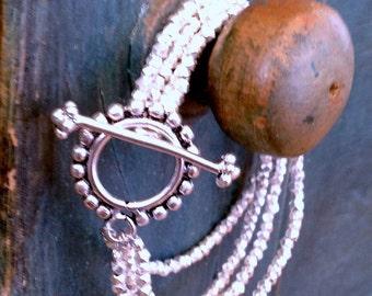 Silver Multi Strand Bracelet