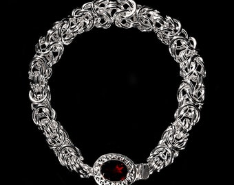 Sterling Silver 5mm Byzantine Bracelet, Sterling Silver Bracelet, Silver Jewelry, Chain Maille Jewelry, Gifts for her, Wedding Jewelry