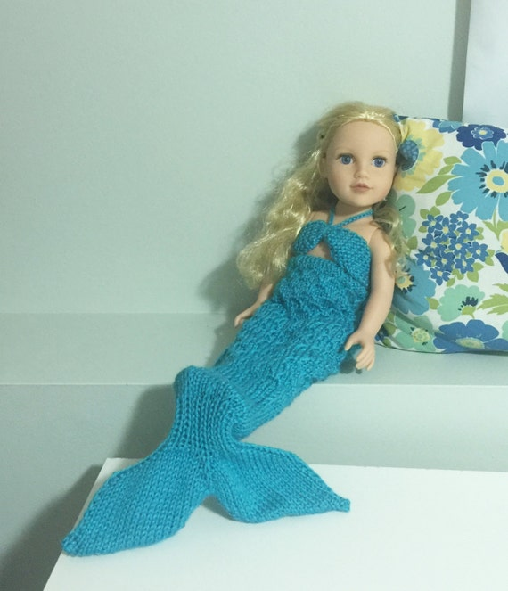 Mermaid Doll Knitting Pattern - Fits all 18-inch dolls ...