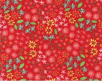 Farm Fun (20533 12) Wild Flowers Tractor Red by Stacy Iest Hsu