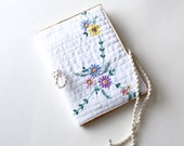 Journal cover recycled vintage embroidered cloth country #5