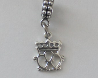 Sterling CELTIC CROWN Bead Charm for all Name Brand Add a Bead Bracelets - Also Charm  or Pendant