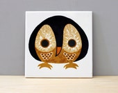 Vintage Kenneth Townsend tile. The Owl.