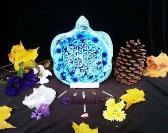 Taliyah The Trivet Sized Flower Of Life Sea Turtle Crystal Grid
