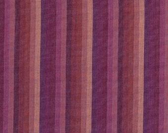 Kaffe Fassett Multi Stripe Raspberry Woven Cotton Fabric By The Yard