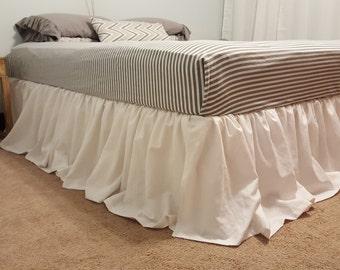 LINEN TWIN size Ruffles Bedskirt