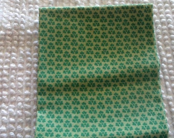 Vintage Cotton Quilt Fabric Green on Green