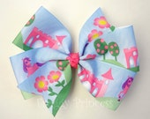 Fairytale Bow - Pinwheel Style - No Slip Velvet Grip Hair Clip