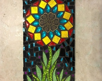 Mosaic Art flower Wall Hanging Great Gift Birthday Gift Mothers day