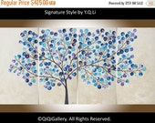 """Modern Wall Art Abstract Tree painting wall art wall decor wall hangings decorative art  Impasto canvas art """"Flying Snow"""" by QIQIGallery"""