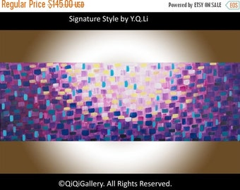 """Modern Wall Art Original Acrylic painting Abstract Painting Palette Knife Impasto Painting wall art Wall Decor """"Moon bound"""" by QIQIGallery"""