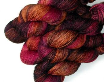 Handdyed Yarn Superwash Merino Cashmere Nylon, 430 yards - Aromatic Bitters