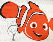 Nemo clown fish Applique Embroidery Design This is not Fill and NOT A PATCH