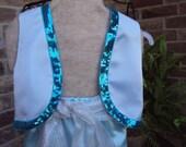 Shimmer and Shine Genie costume, Aqua with sequin trim vest, aqua pants, white and silver sash, childrens sizes, Halloween costume