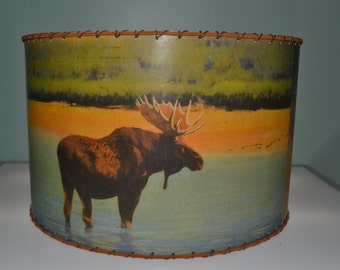 Adirondack, Moose, Deer, Bear, Lamp Shade, Large 12 x 12 Rustic Cabin Decor