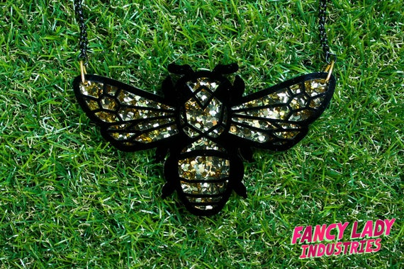 Teddy Bear Bee Necklace