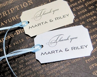 Personalized Thank you Tags -  Set of 20 -  Hang Tags - Wedding - Corporate - Etsy store - Goody bag