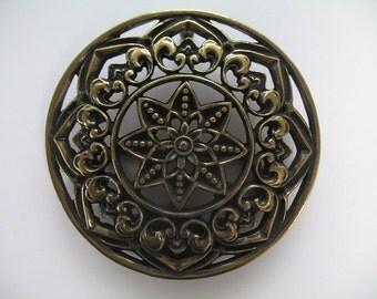 Gorgeous Brass Circular Belt Buckle
