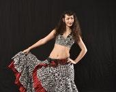 Gorgeous Black White Vegetable Dye Block Print Skirt