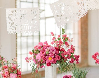 Wedding Bunting Garland Banner AMOR VARIETY Papel Picado Fiesta Wedding Flags - Mexican Hand Cut Tissue Paper Flags
