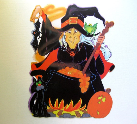 Crow And Cauldron Vintage Halloween: Vintage Halloween Witch And Cauldron Die Cut By Eureka