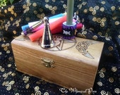 Altar Candle Set with Millefiori Snuffer and Holder in Purple