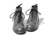 Size 9 Dr Martens Distressed Gray Leather Ankle Boots