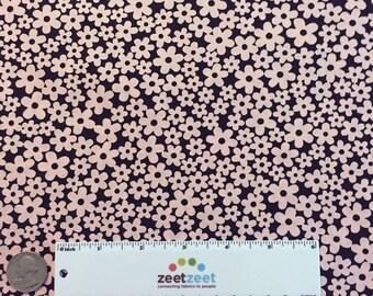 SALE Black & Light Pink MINI FLOWERS #58 Robert Kaufman Pimatex Basics Cotton Quilt Dress Fabric by the Yard