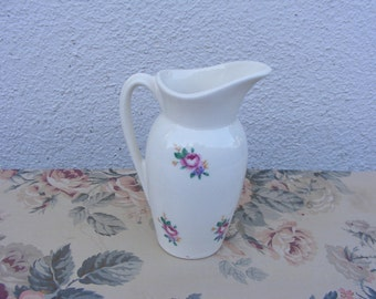 Royal Copley Floral Decal Pitcher, 1950's